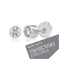 Серебряные серьги с цирконием SWAROWSKI ZIRCONIA С2С/211