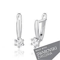 Серебряные серьги с цирконием SWAROWSKI ZIRCONIA С2С/413