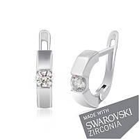 Серебряные серьги с цирконием SWAROWSKI ZIRCONIA С2С/414