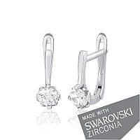 Серебряные серьги с цирконием SWAROWSKI ZIRCONIA С2С/212