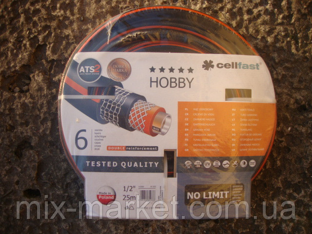 """Поливочный шланг Cellfast серии HOBBY 25 м. 1/2 """" (16-200)"""