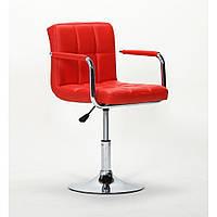 Парикмахерское кресло HC8325N красное
