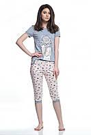 Піжама жіноча футболка з дівчинкою та бріджі, LNP 083/001, ELLEN,