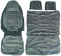 Авточехлы универсальные Pilot Бус 1+2 ткань велюр серые