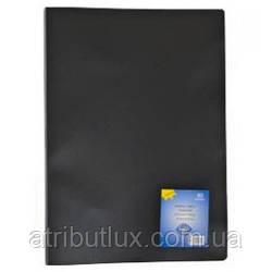 Папка А4 на 10 файлов неон черная