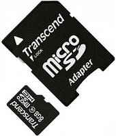 Карта памяти Transcend MicroSDHC 8Gb Class 4 + SD adapter