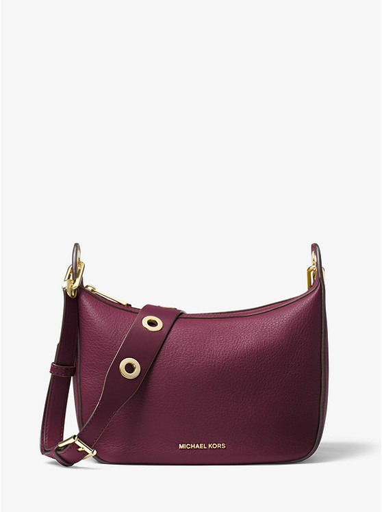 Сумка Michael Kors Raven Medium Leather Messenger Bag plum 30F6GRXM2L