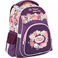 Рюкзак школьный для девочки младших классов KITE Flower Dream 518