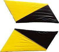 Накладки задних стоек Лопухи ВАЗ 2101 - 2107 желтые