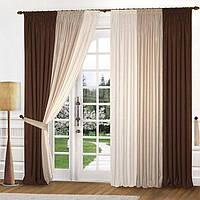 Красивый комплект готовых штор для зала. Вдохновение №3. Комплект состоит из двух штор 180х270 см.