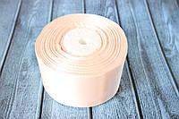 """Атласная лента 5 см, 36 ярд (около 33 м), цвета """"телесный"""" оптом, фото 1"""
