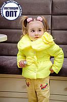 Демисезонная курточка цветок для девочки, фото 1