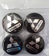 Заглушки дисков 55мм Mitsubishi