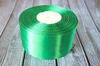 "Атласная лента 5 см, 36 ярд (около 33 м), цвета ""яркий зеленый"" оптом"