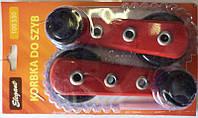 Ручки стеклоподъемника металл красные