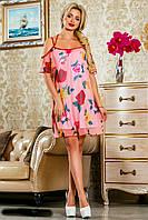 Шикарная летняя модель молодежного платья из легкой натуральной ткани,