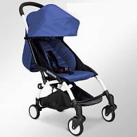 Детская коляска Baby Throne синий цвет