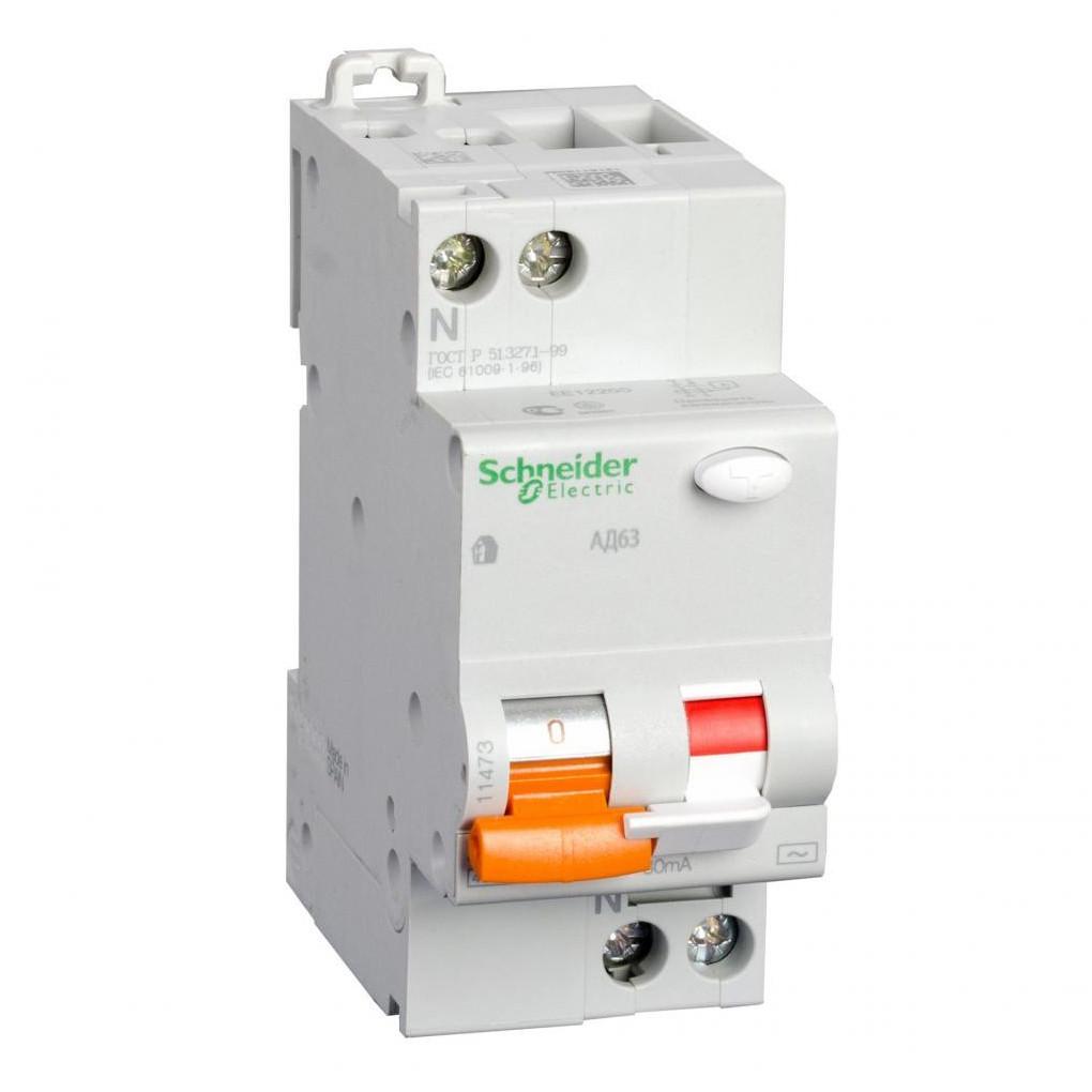 Дифференциальный автомат Schneider Electric 25A/300mA 2P