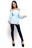 Блуза свободная на поясе Лори