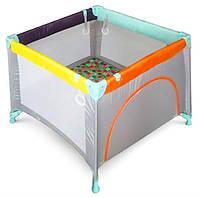 Детский манеж Wonderkids Rainbow (серый) , квадратный манеж, манеж для детей
