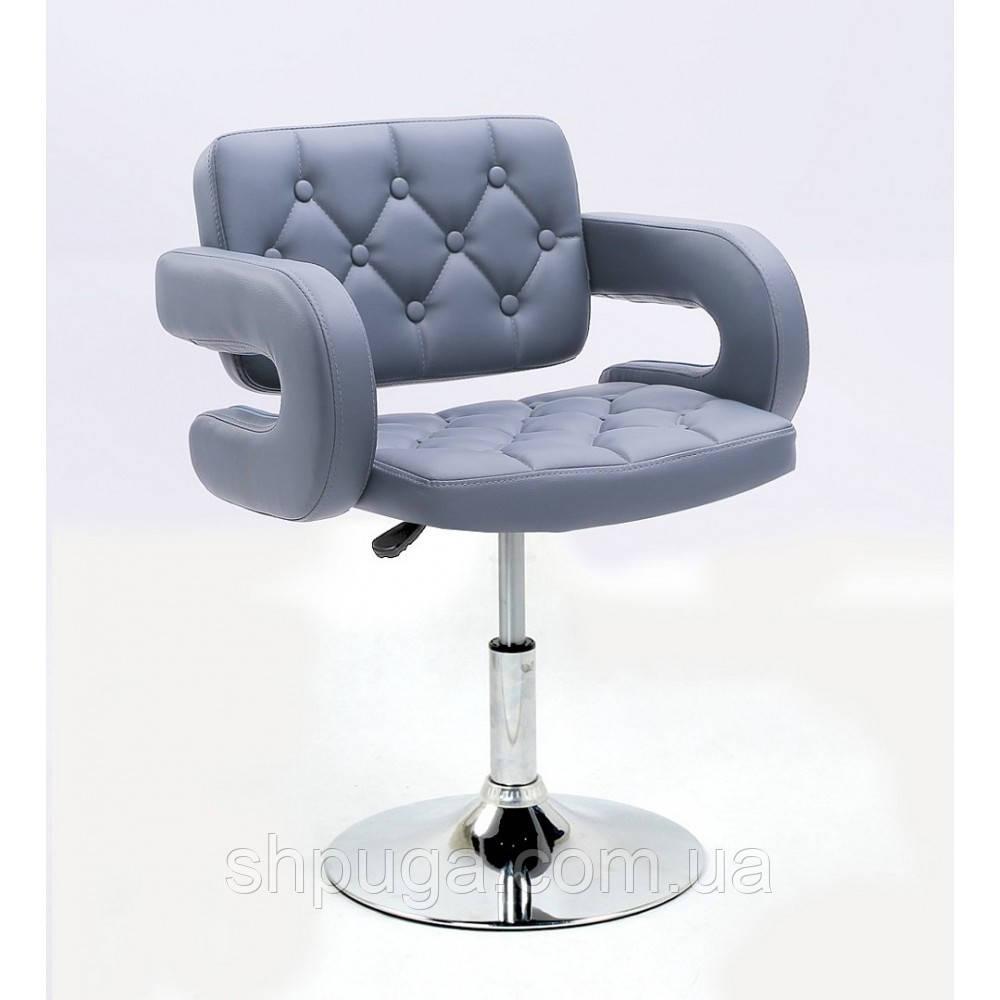 Парикмахерское кресло  НС 8403  серое