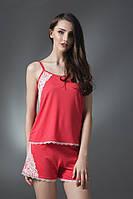 Пижама для женщин, комплект для сна, шорты и майка , 96% вискоза, ELLEN,  LNP 036/002