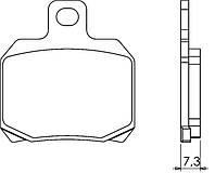 Итальянские синтетические  тормозные колодки BRENTA 4035 для мотоциклов