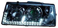 Передние фары ВАЗ 2109 хром с ходовыми огнями