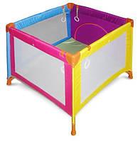 Детский манеж Wonderkids Rainbow (разноцветный) , квадратный манеж, манеж для детей