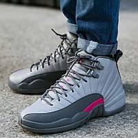 """Оригинальные женские/молодежные кроссовки Air Jordan 12 Retro """"Cool Grey"""""""