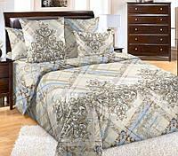 Двуспальное постельное белье с простыней на резинке 160/200/34, Таинство, перкаль 100%хлопок