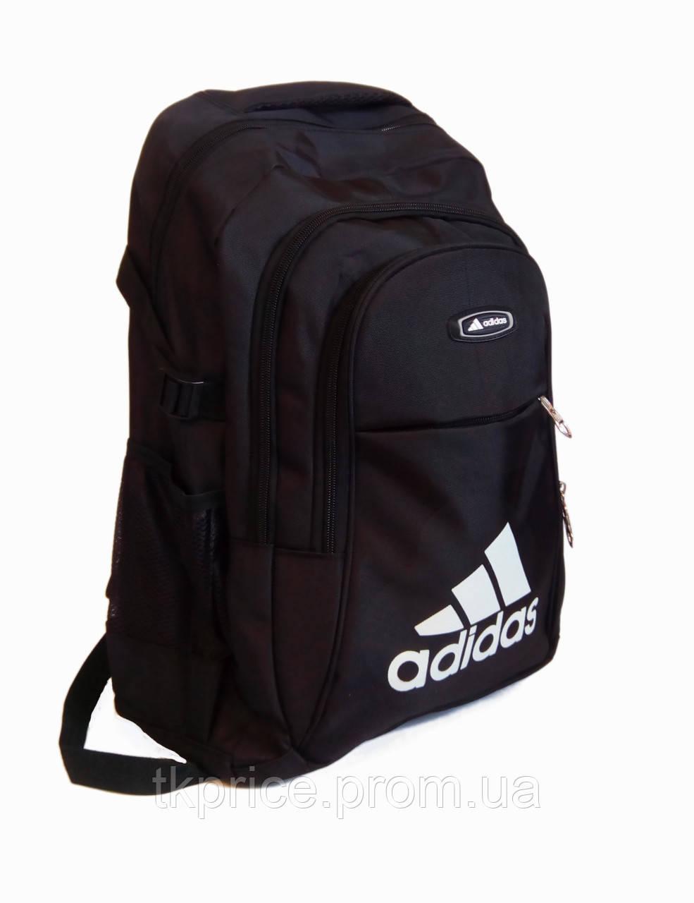 a8f3507bf7bf Спортивный рюкзак для школы и прогулок качественная реплика Adidas черный -  Интернет-магазин