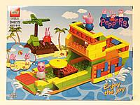 Конструктор QS08 аналог Лего Корабль из серии Свинка Пеппа, 215 деталей