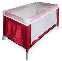 Манеж кроватка Wonderkids Discovery (бордовый), детский манеж-кровать
