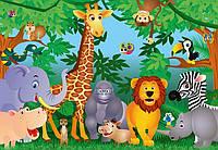 Фотообои бумажные на стену 366х254 см 8 листов: Звери в джунглях