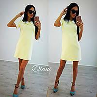 Платье. Ткань креп костюмка отличное качество. Размер С и М.(21226)