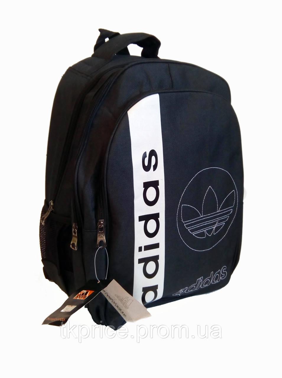 095d9ef925a6 Универсальный рюкзак для школы и прогулок качественная реплика Adidas черный