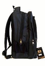 Универсальный рюкзак для школы и прогулок качественная реплика Adidas черный, фото 3