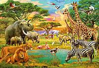 Фотообои бумажные на стену 366х254 см 8 листов: Африканские животные