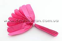 Помпон из тишью, ярко-розовый, 30 см