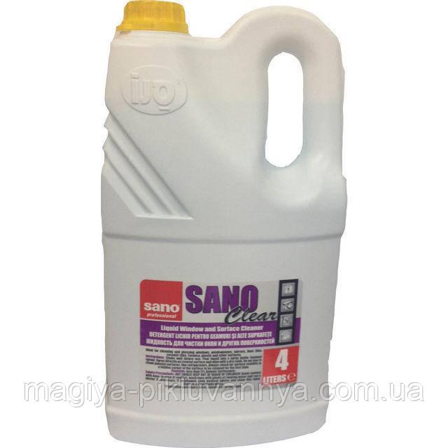 Средство Sano для мытья стекла Sano Clear 4л, арт. 290447
