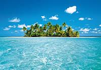 Фотообои бумажные на стену 366х254 см 8 листов: море, Мальдивский остров
