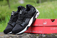 Кроссовки Puma Trinomic (черные с белым) замшевые кроссовки пума, кроссовки Puma
