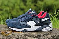 Кроссовки Puma Trinomic (темно синие с белым и красным) замшевые кроссовки пума, кроссовки Puma