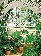 Фотообои бумажные на стену 183х254 см 4 листа: Вид из окна Зимний сад