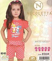 Пижама детская  летняя с шортиками в горошек