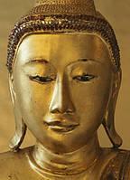 Фотообои бумажные на стену 183х254 см 4 листа: Золотой Будда