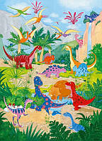 Фотообои бумажные на стену 183х254 см 4 листа: Динозаврики