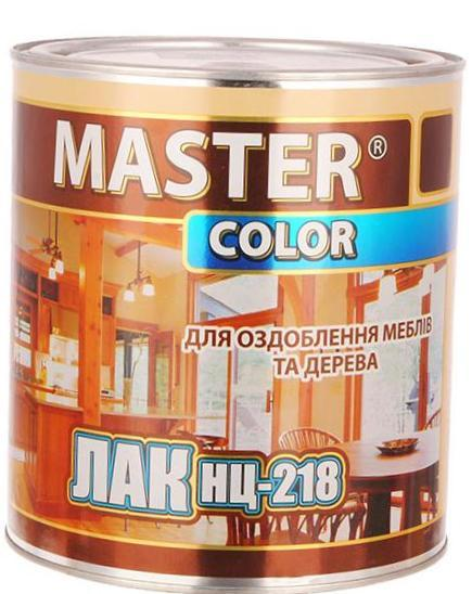 Лак нитро НЦ-218 глянцевый 2,2 кг Master Color