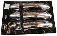 Накладки на ручки Ford Fiesta 08- нержавейка Carmos